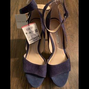 (K) Zara woman blue/periwinkle heels